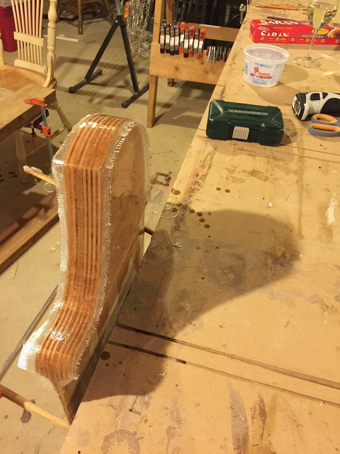 wood rudder building scamp centerboard and rudder