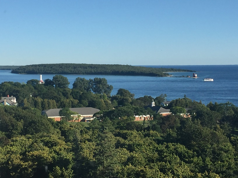 View from the Cupola Grand Hotel Mackinac