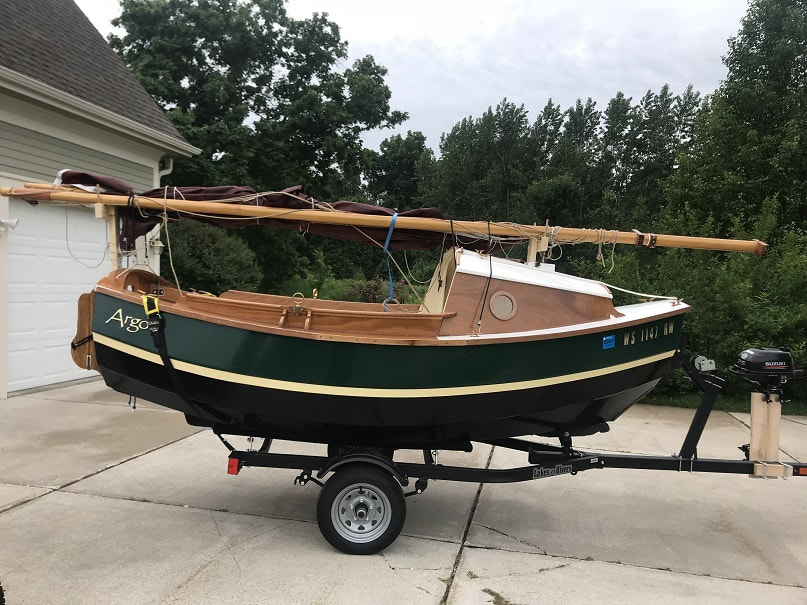 SCAMP Sailboat on trailer