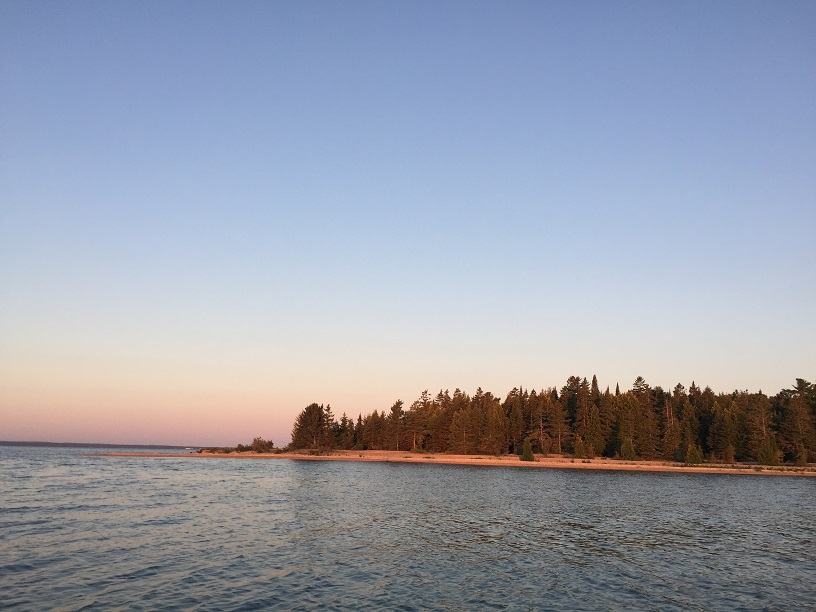 Anchored off Round Island Lake Huron